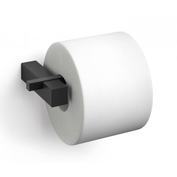 Zack Carvo Powder Coated Black Stainless Steel Toilet Roll Holder 40500