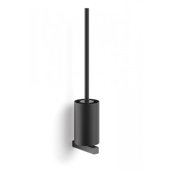 Zack Carvo Powder Coated Black Stainless Steel Wall Toilet Brush 40507