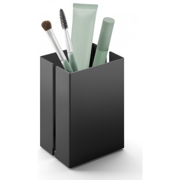 Zack Potes 7.5cm Black Stainless Steel Makeup Utensil Box 40536