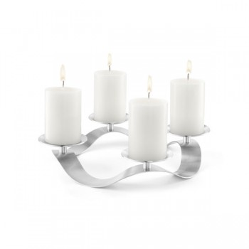 Zack Cero Brushed Stainless Steel Candle Holder 40688