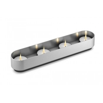 Zack Lonta Brushed Stainless Steel Tealight Holder 40709