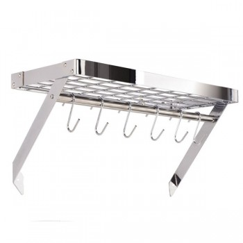 Hahn Premium Collection Chrome Rectangular Wall Rack 40806