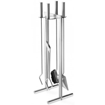 Zack Calore Brushed Stainless Steel Fire Tool Set 50010