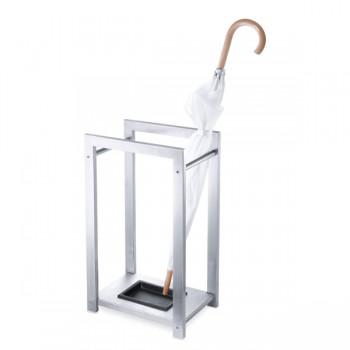 Zack Atacio Brushed Stainless Steel Umbrella Stand 50455