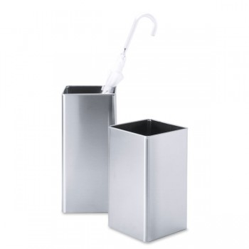 Zack Angolo Brushed Stainless Steel Waste Paper Basket 50477