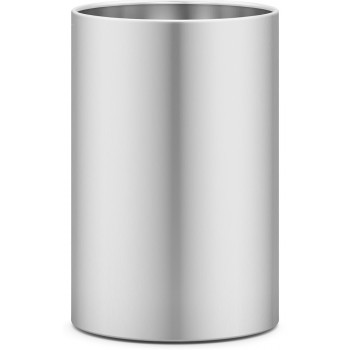 Zack Civos Brushed Stainless Steel Round 37.5cm Waste Paper Basket 50528