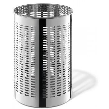 Zack Proda Polished Stainless Steel Round 36.5cm Waste Paper Basket 50534