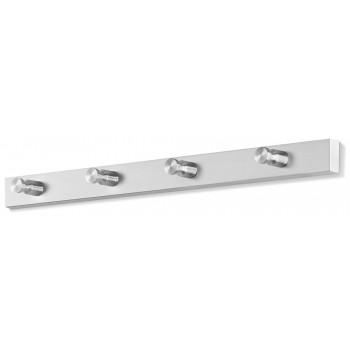 Zack Accolo Brushed Stainless Steel 4-Hook Wall Coat Rack 50657