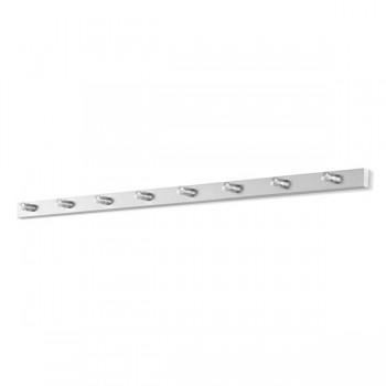 Zack Accolo Brushed Stainless Steel 8-Hook Wall Coat Rack 50658