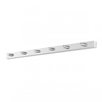 Zack Accolo Brushed Stainless Steel 6-Hook Wall Coat Rack 50662