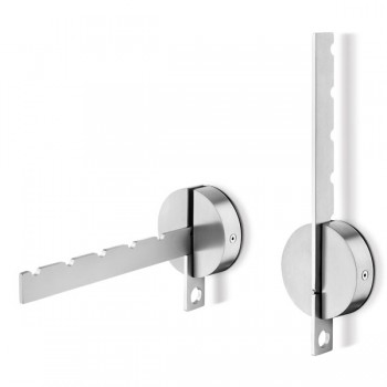 Zack Laveto Brushed Stainless Steel Wall Coat Hanger 50682