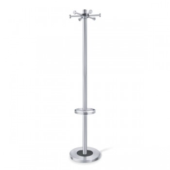 Zack Abilio Brushed Stainless Steel Coat Rack 50690