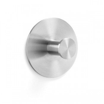 Zack Ganzio Brushed Stainless Steel 8cm Coat Hook 50709
