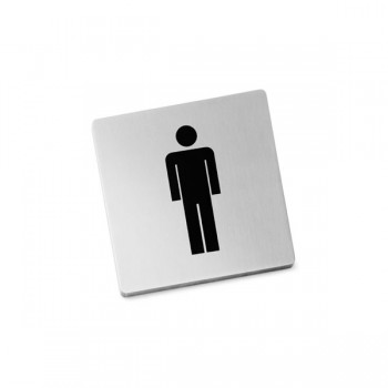 Zack Indici Brushed Stainless Steel Information Sign - Men 50713