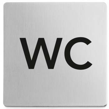 Zack Indici Brushed Stainless Steel Information Sign - WC 50715