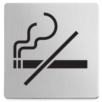 Zack Indici Brushed Stainless Steel Information Sign - No Smoking 50719