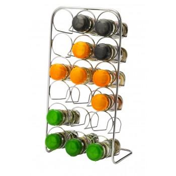 Pisa 18 Jar Spice Rack - Chrome