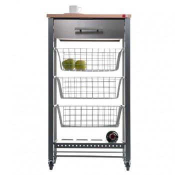April Beech Kitchen Trolley