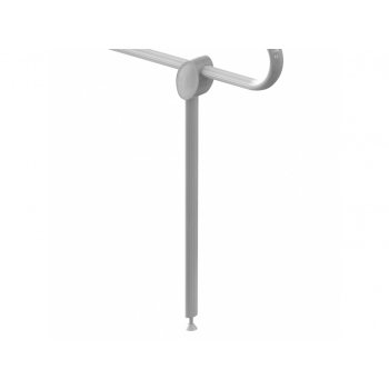 Pellet Arsis Adjustable Support Prop for Hinged Bar - White Epoxy-coated Aluminium