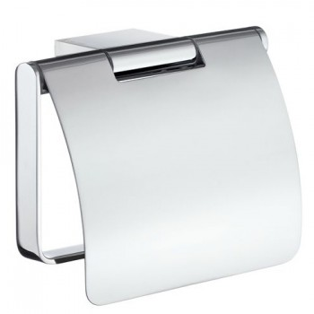 Air Toilet Roll Holder With Lid AK3414 - Polished Chrome