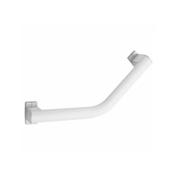 Pellet Arsis 135° 200mm Angled Grab Bar - White Epoxy-coated Aluminium