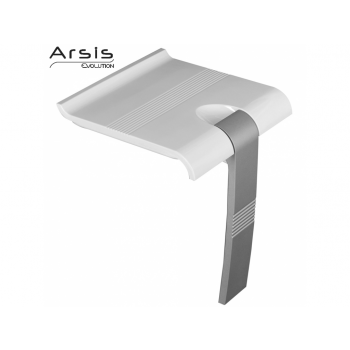 Pellet Arsis Evolution Foldaway Shower Seat - White & Grey
