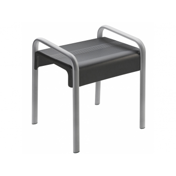 Pellet Arsis Evolution Shower Stool - Anthracite Grey & Matt Grey