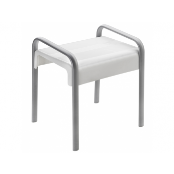Pellet Arsis Evolution Shower Stool - White & Matt Grey