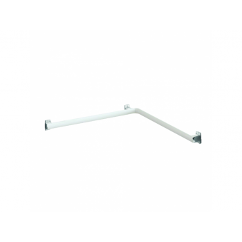 Pellet Arsis Two-Wall Corner Grab Bar - White Epoxy-coated Aluminium