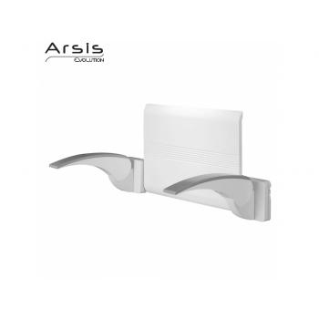 Pellet Arsis Evolution Backrest + 2 Armrests - White & Grey