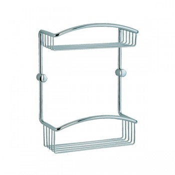 Cabin Double Shower Basket CK377 - Polished Chrome