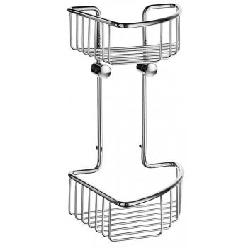 Smedbo Sideline Polished Chrome Double Corner Shower Basket DK1021
