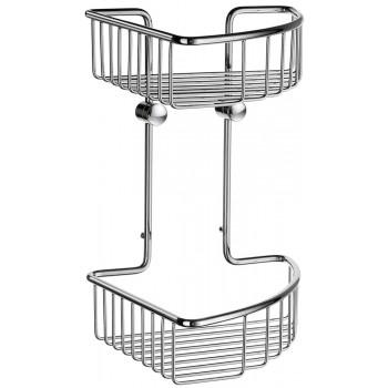 Smedbo Sideline Polished Chrome Double Corner Shower Basket DK1022