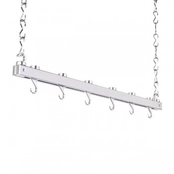 Hahn Premium Collection Single Bar Chrome Hanging Pan Rack 40219