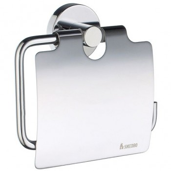 Home Toilet Roll Holder With Lid HK3414 - Polished Chrome