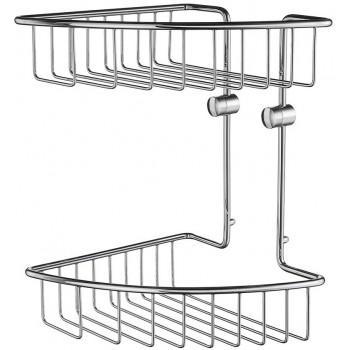 Home Double Corner Shower Basket HK377 - Polished Chrome
