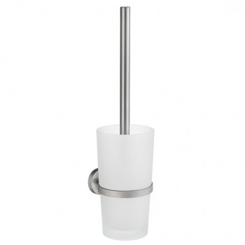 Home Wall Toilet Brush Set HS333 - Brushed Chrome