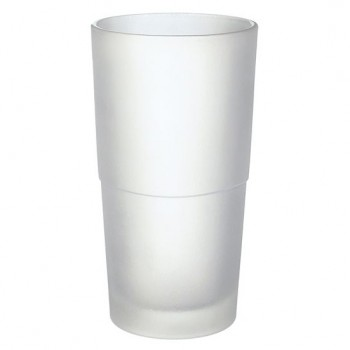 Frosted Glass Container - White (Fits All SMEDBO Toilet Brushes) N334
