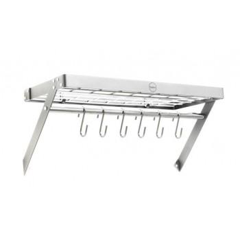 Hahn Premium Collection Platinum Grey/Chrome Rectangular Wall Rack 80806