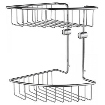 House Double Corner Shower Basket RK377