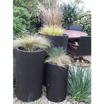 Satu Bumi Set of 3 Tall Cylinder Planters - Neo Coffee
