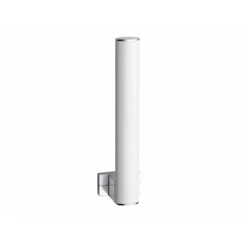 Pellet Arsis Elliptical Spare Toilet Roll Holder - White epoxy-coated Aluminium