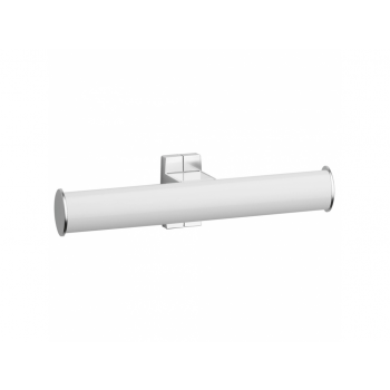 Pellet Arsis Elliptical Double Toilet Roll Holder - White epoxy-coated Aluminium