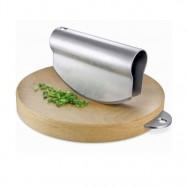 Taggo Hachoir Cutting Board & Mincing Knife 20225 - Wood & Brushed Finish