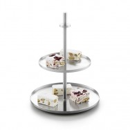Zack Pilio Brushed Stainless Steel Cake & Cookie Stand 30685
