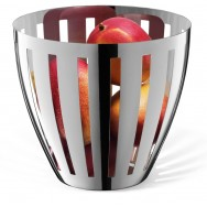 Zack Vitor Polished Stainless Steel Fruit Basket 30713