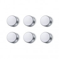 Zack Cult Polished Stainless Steel 2.2cm Magnet Set 30764