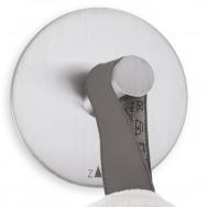 Zack Duplo Brushed Stainless Steel Circular Towel Hook 40206