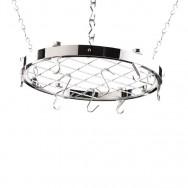 Hahn Premium Collection Round Chrome Ceiling Rack 40803