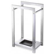 Zack Atacio Brushed Stainless Steel Umbrella Stand 50455